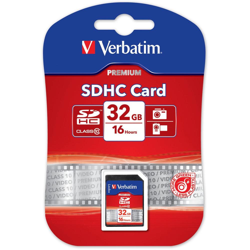 VERBATIM SDHC MEMORY CARDS 32GB (Class 10)