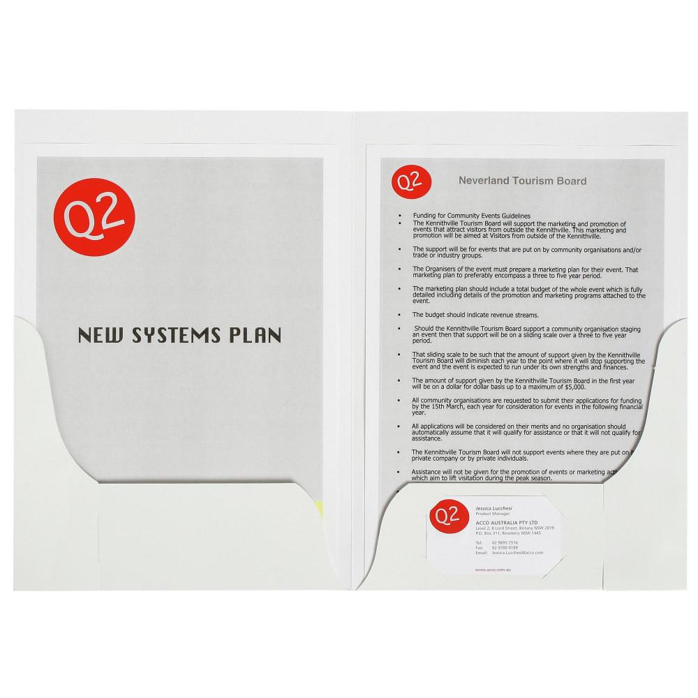 MARBIG PRESENTATION FOLDERS Pro Series Double Pocket Gloss Pack of 10