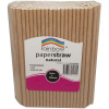 RAINBOW PAPER STRAWS 6MM NATURAL Pack of 250