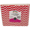 RAINBOW PAPER STRAWS 8MM RED STRIPE Pack of 250