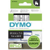 Dymo D1 Label Cassette Tape 24mmx7m Black on Clear