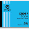 Olympic 640 Carbon Book Duplicate 100x125mm Order 100 Leaf