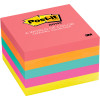 POST-IT 654-5PK NOTES NEON Capetown 100 Sheets 76x76mm Assorted Pack of 5