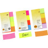 MARBIG NOTES PAGE MARKERS Rainbow 20mm x 50mm Assorted 160 Sheets Pack