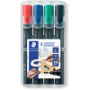 STAEDTLER 352 PERMANENT MARKER Bullet Assorted Wallet of 4