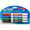 EXPO WHITEBOARD MARKERS 1.4mm Fine Assorted Colours Pack of 4
