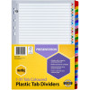 Marbig Plastic Divider A4 Reinforced 1-31 Tab Multi Colour