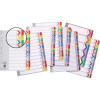 Marbig Plastic Divider A4 Reinforced Financial Year Tab Multi Colour