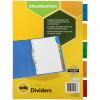 Marbig Manilla Divider A4 5 Insert Tab Multi Colour