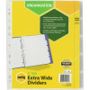 Marbig Manilla Divider A4 5 Extra Wide Insert Tab White