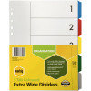 Marbig Plastic Divider A4 Extra Wide 5 Tab Multi Colour
