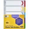 Marbig Plastic Divider A3 Reinforced 5 Tab Portrait Multi Colour