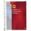 Marbig Sheet Protectors A4 Silver Strip Glass Clear Box Of 100