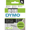 Dymo D1 Label Cassette Tape 12mmx7m Black on Clear