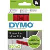 DYMO D1 LABEL CASSETTE TAPE 12mm x 7m Black on Red