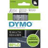 Dymo D1 Label Cassette Tape 12mmx7m White on Clear