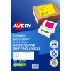 AVERY L7163FG LASER LABELS 14UP 99.1x38.1mm Fluoro Pack of 25