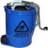 CLEANLINK MOP BUCKET Heavy Duty Metal Wringer Blue