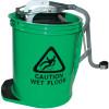 CLEANLINK MOP BUCKET Heavy Duty Metal Wringer Green
