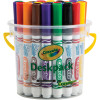 CRAYOLA WASHABLE BROAD MARKERS Classic  Deskpack 32 Assorted Colours
