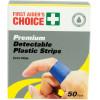 TRAFALGAR BLUE PLASTIC STRIP FAC Blue Plastic Strip Pack of 50