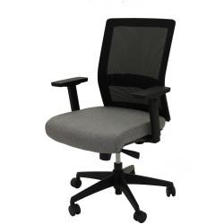 Gesture Task Chair Mesh Back Adjustable Arms Seat Slide Black Mesh Grey Fabric Seat