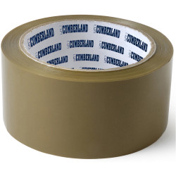 Cumberland Packaging Tape 45 Micron 48mmx75m Brown Pack 6