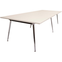 RAPID AIR BOARDROOM TABLE 2400W x 1200D x 750mmH Natural White