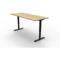 Boost Electric Height Adjustable Desk 1500Wx750D Oak Top Black Frame