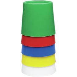 EC Water Pots No 5 Set Assorted Colours Set of 5
