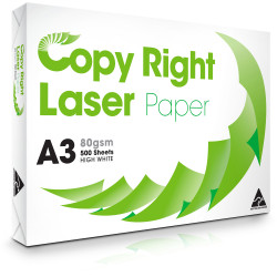 COPY RIGHT LASER 80GSM A3 Copy Paper 500 Sheets Ream