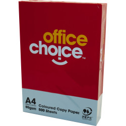 OFFICE CHOICE 80GSM A4 TINTED Paper Blue 500 Sheets Ream