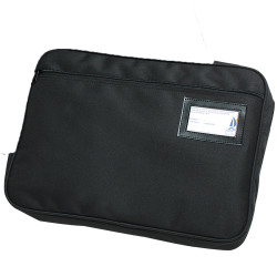 Marbig Convention Satchel 410x330mm Fabric Expanding Zippered Black