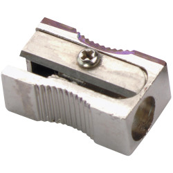 Marbig Pencil Sharpener 1 Hole Metal Silver