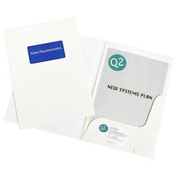 MARBIG PRESENTATION FOLDERS Pro Series A4 Window Gloss Pack of 10