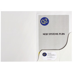 MARBIG PRESENTATION FOLDERS Pro Series A4 White Gloss Box of 50