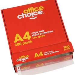 Office Choice Sheet Protectors A4 Copysafe Low Glare Box of 300