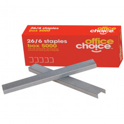 OFFICE CHOICE STAPLES No. 26/6 - Pack of 5000