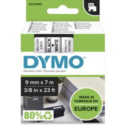 DYMO D1 LABEL CASSETTE TAPE 9mm x 7m Black on White