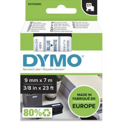 DYMO D1 LABEL CASSETTE TAPE 9mm x 7m Blue on White