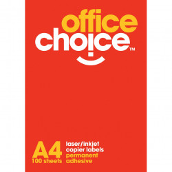 Office Choice Laser Copier & Inkjet Labels 33UP 64x24.3mm