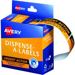 AVERY DMR1964R2 DISPENSER LBL Printed Urgent Action Orange Pack of 125