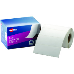 AVERY ADDRESS LABELS 102x36mm Roll White Box of 500