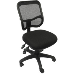 OPERATOR MESH CHAIR Black Fabric Medium Back