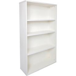 Rapid Span Melamine Bookcase 1200Hx900Wx315mmD 3 Adjustable Shelves All White