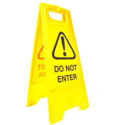 CLEANLINK SAFETY SIGN Do Not Enter 32x31x65cm Yellow