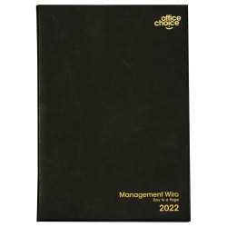 OFFICE CHOICE EXECUTIVE DIARY A4 Day To Page Wiro Black