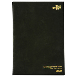 OFFICE CHOICE MANAGEMENT WIRO DIARY A4 Week to Opening Black