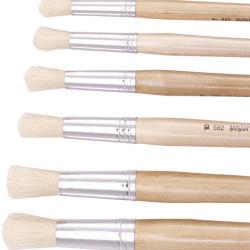 Jasart Hog Bristle Series 582 Round Brushes Size 8 Pack of 12