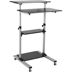 ERGOVIDA MOBILE COMPUTER CART  With Lockable Castors Height Adjustable